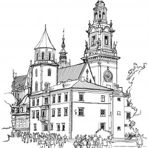 Krakow. Poland. The Wawel Cathedral, Katedra Wawelska in Polish,